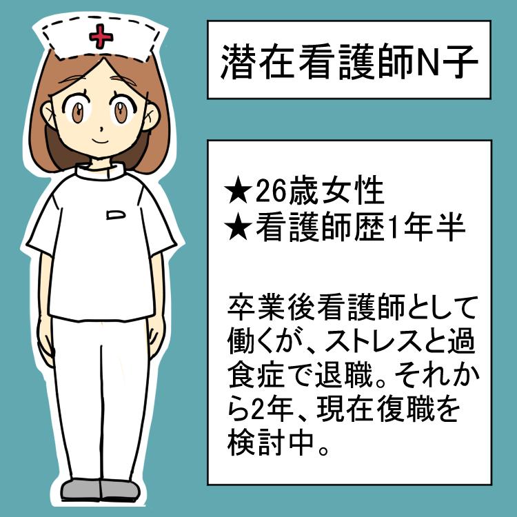 潜在看護師N子