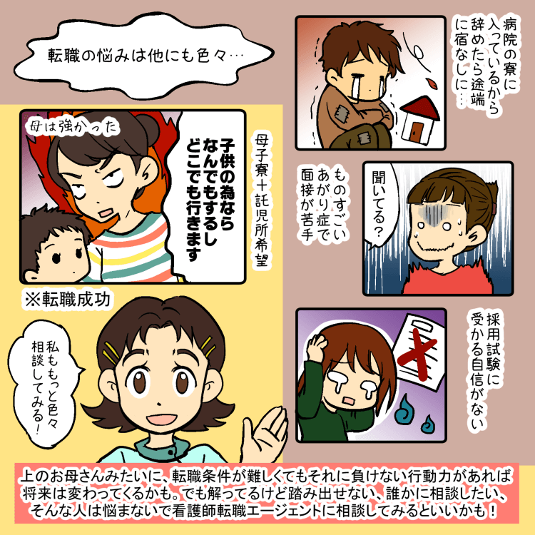 看護師の悩み(住居問題・面接対策・託児所問題)