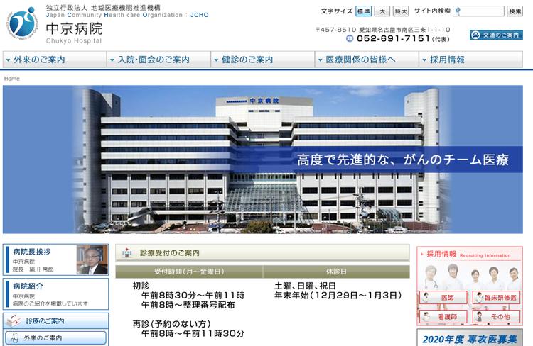 中京病院HP