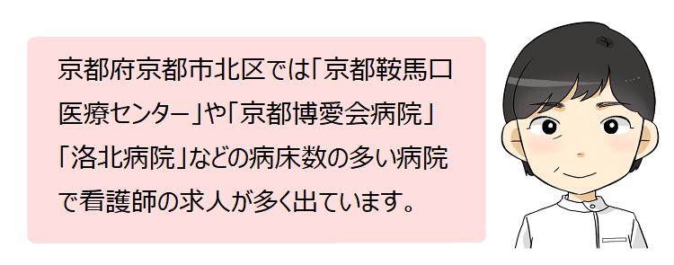 京都市北区(京都府)の看護師採用情報