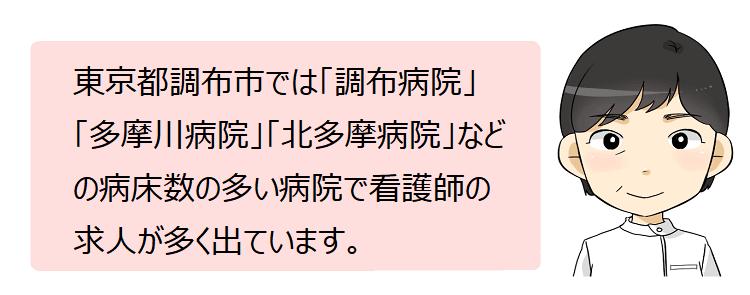 調布市(東京都)の看護師採用情報